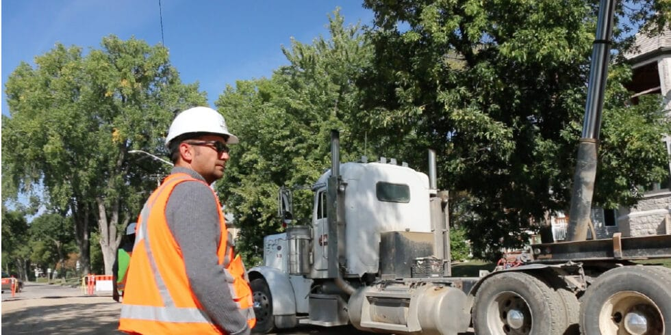 Paving Photo Gallery Meseyton Employee By Truck