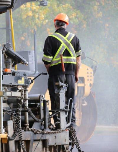 Meseyton Construction Employee Standing